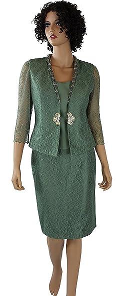Amazon Com 3 Piece Womens Business Suit Sea Green Dress Suits