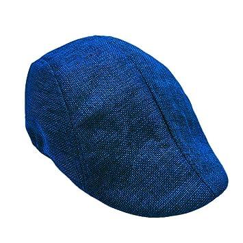 Mens Gatsby Flat Cap Hot Sale Blue Iuhan Unique Flat Cap Irish newsboy IVY Hat Unique Cabbie Driving Cap