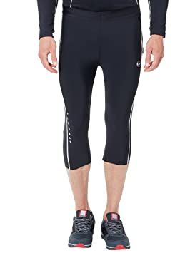 6efdc9ee1d01c1 Ultrasport Men's Compression Effect and Quick-Dry-Function 3/4 Length Running  Capri