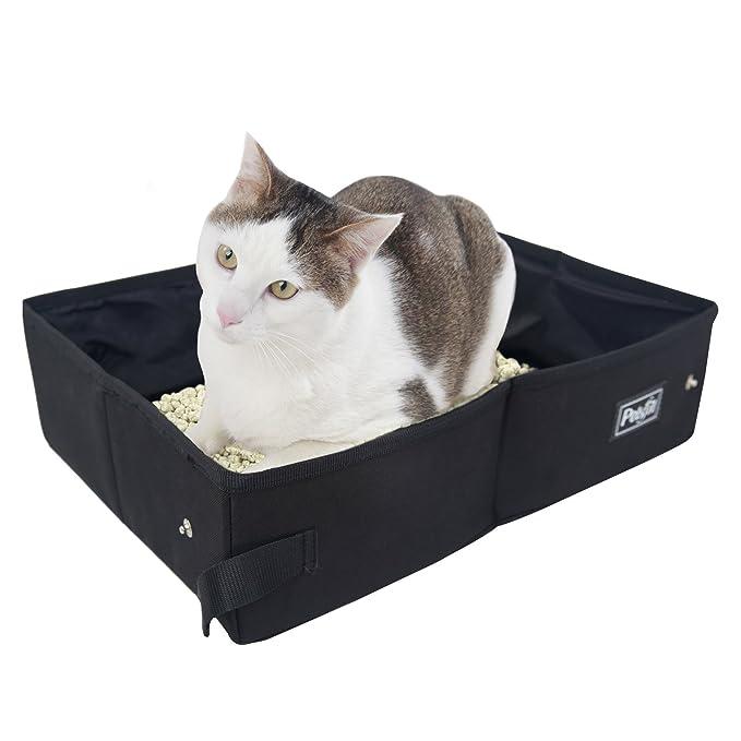 Petsfit Fabric Portable/Foldable Cat Litter Box/Pan for Travel