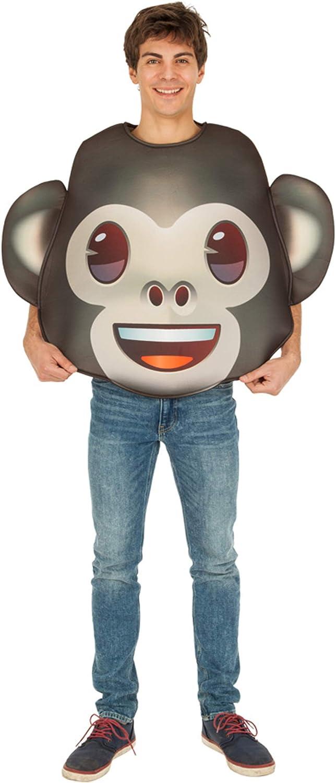Generique - Disfraz Emoji Mono Adulto Única: Amazon.es: Juguetes y ...