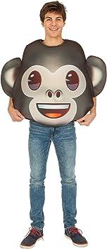 Generique - Disfraz Emoji Mono Adulto Única: Amazon.es: Juguetes ...