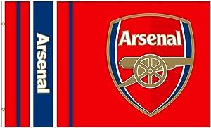 Giant Arsenal FC (Premier League) Soccer Crest Flag (5ft x 3ft)