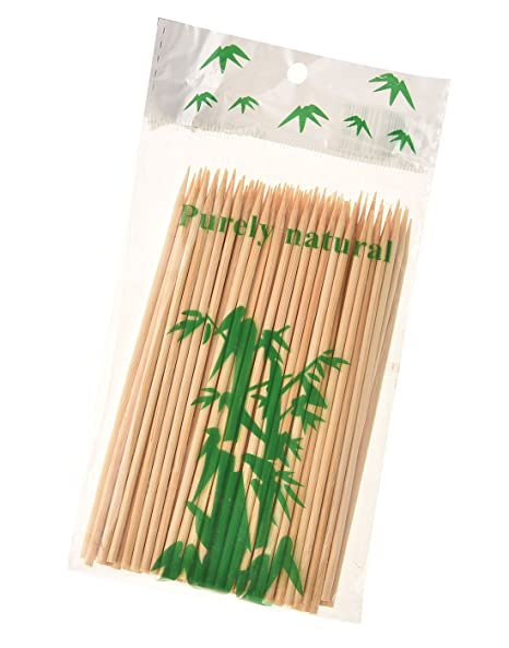 Somani Bamboo BBQ sticks/kebab sticks/wooden skewers/Bamboo Skewers/roasting pick 4 inches (2.3mm Thickness) (Pack of 100)