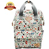 IHONEY4U Diaper Bag Premium Quality & Stylish Baby Multifunction Tote Bags Waterproof Fabric Backpack Baby Bag For Mom and Dad Can Hang in Stroller Handle. (Creamy - white)