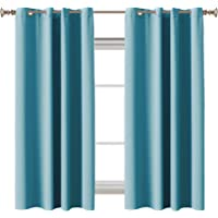 Blockout Curtains Pair Blackout Light Blocking Curtains Draperies for Bedroom / Living Room Window Treatment 2 Pieces…