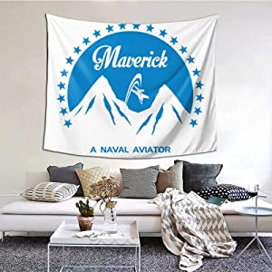 Classic Top Gun Maverick Ice Tapestries With Art Nature Home Stylish Wall Hangings Tapestry Bedroom Party Decor (60 X 51 Inch)