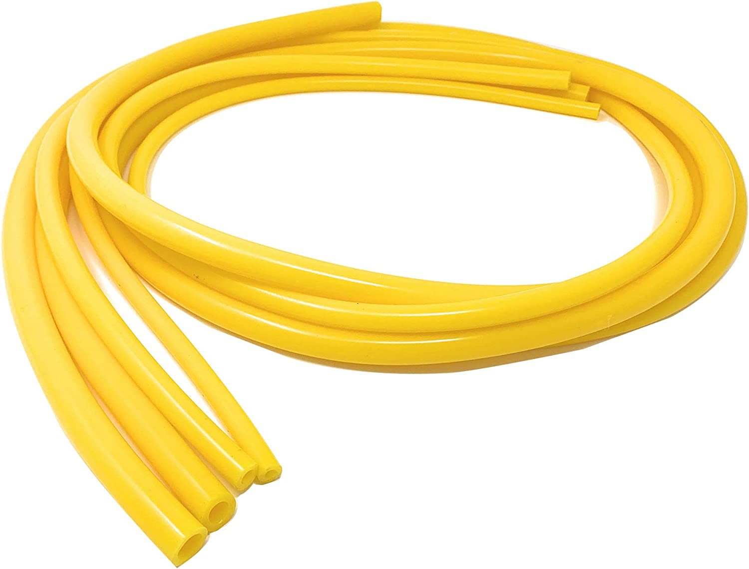 Universal 4mm/6mm/8mm/10mm Inner Diameter High Performance Automotive Silicone Vacuum Tubing Hose line Kit (Yellow)