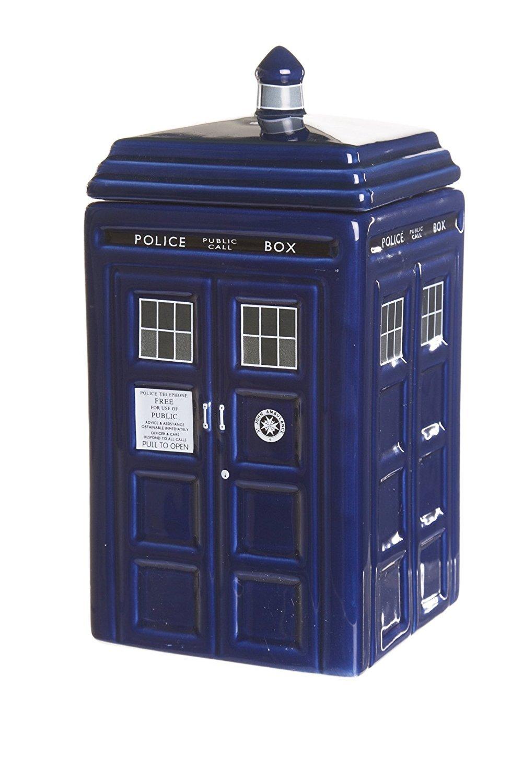 Doctor Who Biscuit Jar Tardis Fan Gift Ceramic Licensed 14x24.3x14cm Blue Zeon