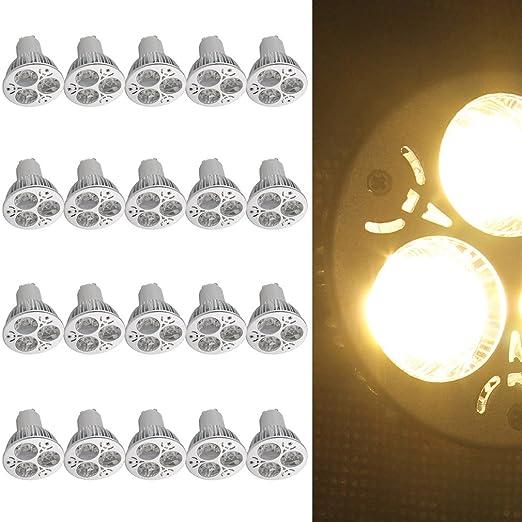 20 x LED de techo Auralum® Bombillas LED GU10 6 W redondo techo techo empotrado