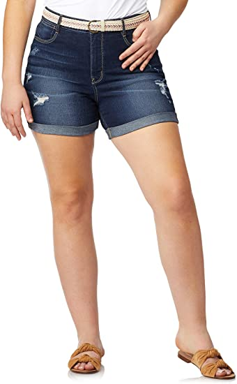 Wallflower Denim Shortie Shorts Juniors