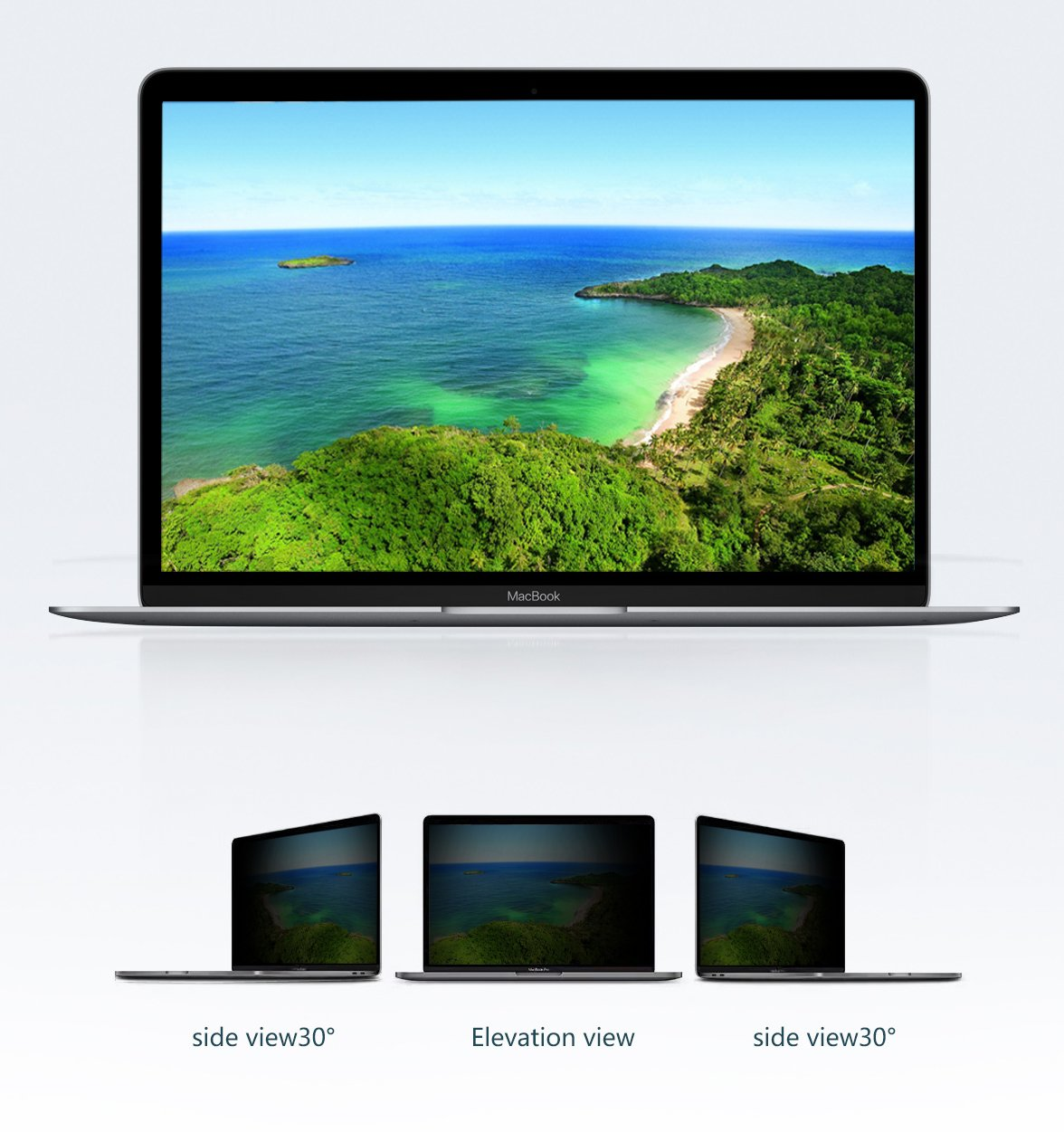 Privacy Screen for 13 Inch Macbook Pro Privacy Screen 2017/2016 with Retina Display (Model: A1706 and A1708) by Long Sheng (Image #3)