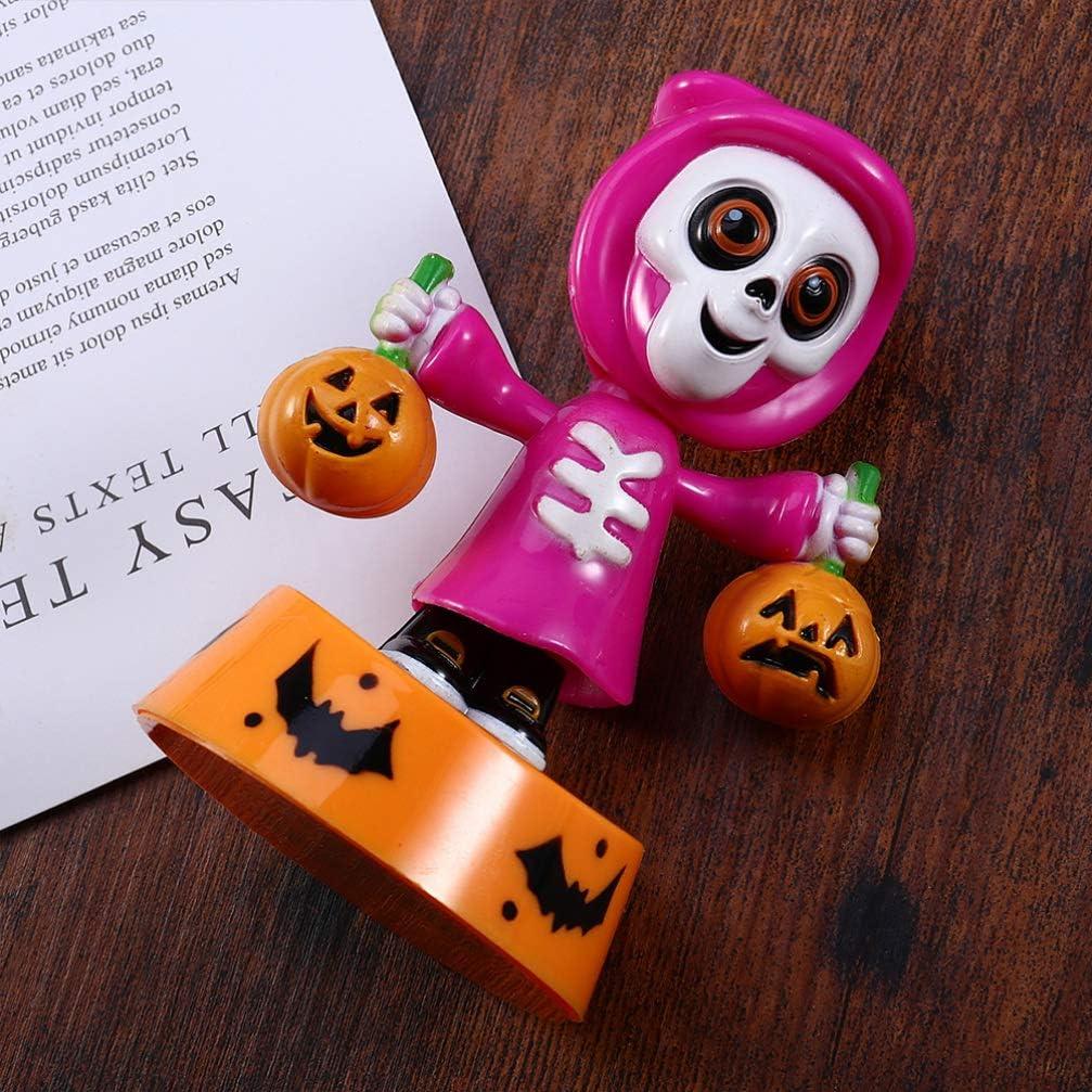 Amosfun 2 St/ücke Auto Solarfigur Halloween Wackelkopffigur Skelett Geist Figur Solar Wackelfigur Bobblehead Figur f/ür Schreibtisch B/üro Auto Armaturenbrett Deko
