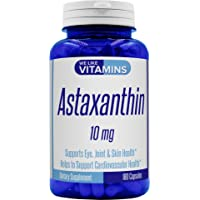 Astaxanthin 10mg - 180 Capsules - (Non GMO & Gluten Free) Astaxanthin Supplement 6 Month Supply