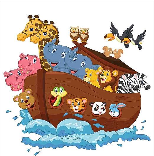 Funda nórdica del Arca de Noé por Ambesonne, Noahs Ark ...