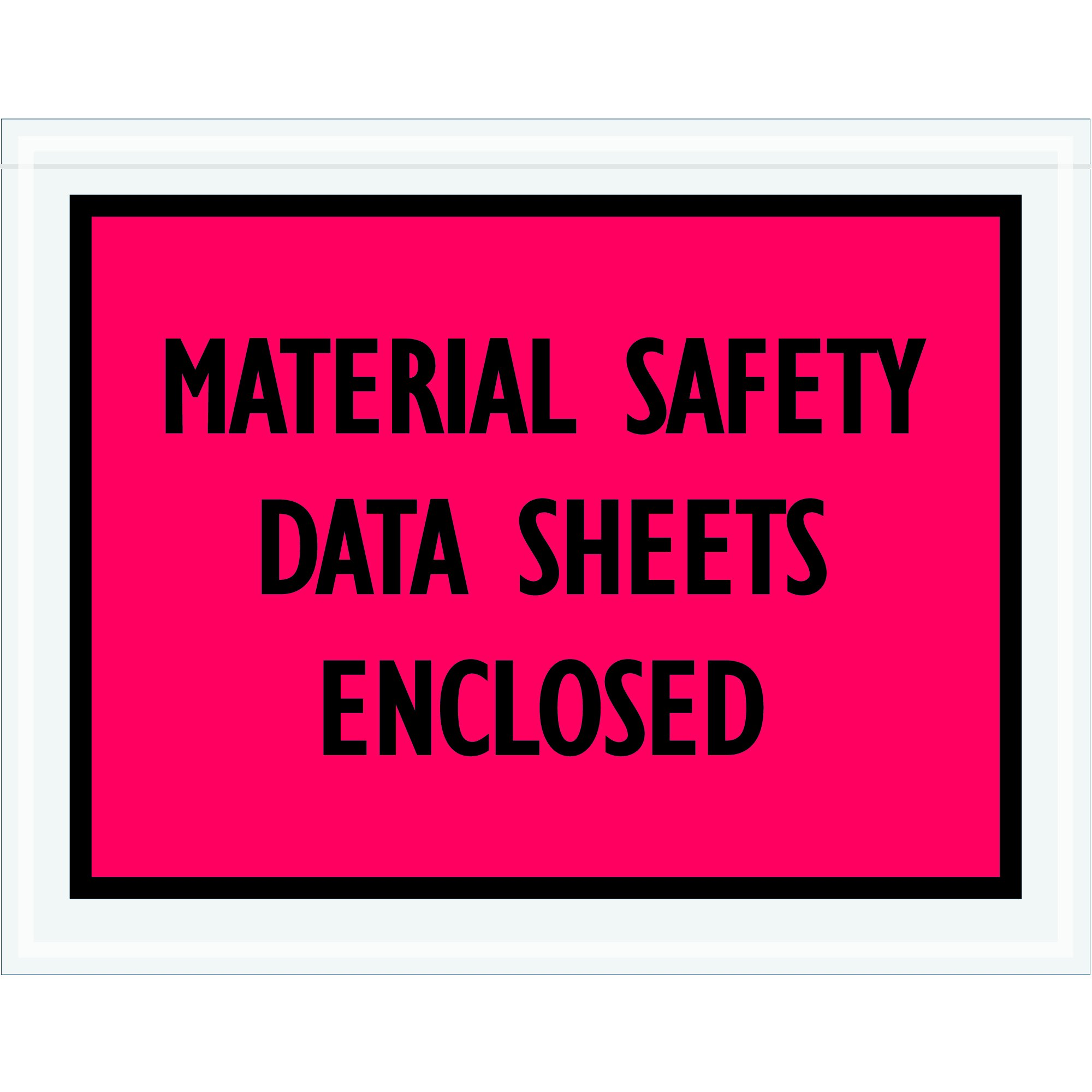 Ship Now Supply SNPL422 ''Material SAFETY Data Sheets Enclosed'' Envelopes, 7'' x 5 1/2'', 5width, 7'' Length, Red/black (Pack of 1000) by Ship Now Supply (Image #1)