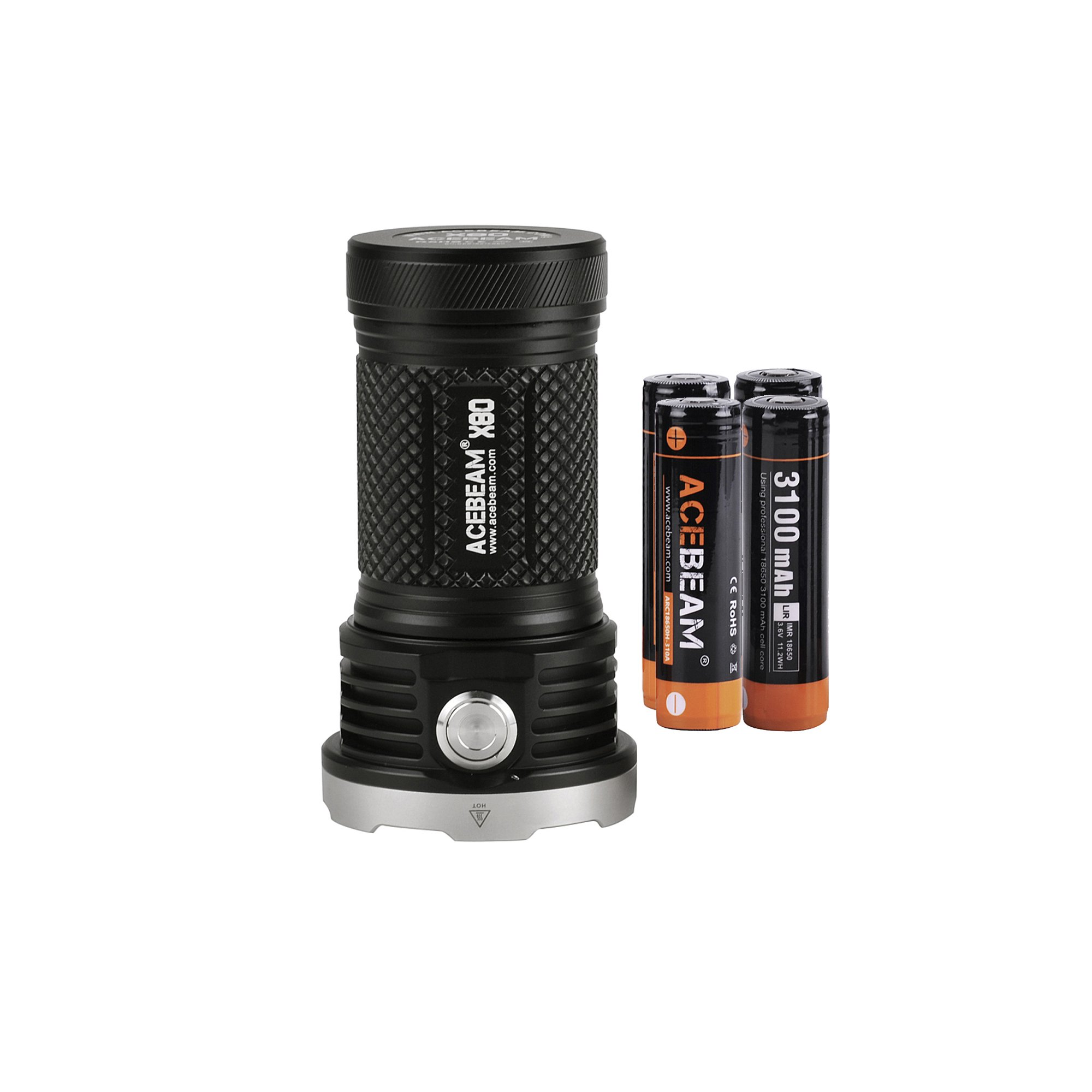 AceBeam X80 Flashlight 25000 Lumens 5-color Light Beam Flashlights Included Batteries by ACEBEAM (Image #1)