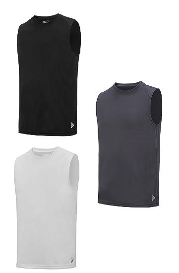 bdb503ce5b1279 TEXFIT Men s 3-Pack Quick Dry Sleeveless Shirts