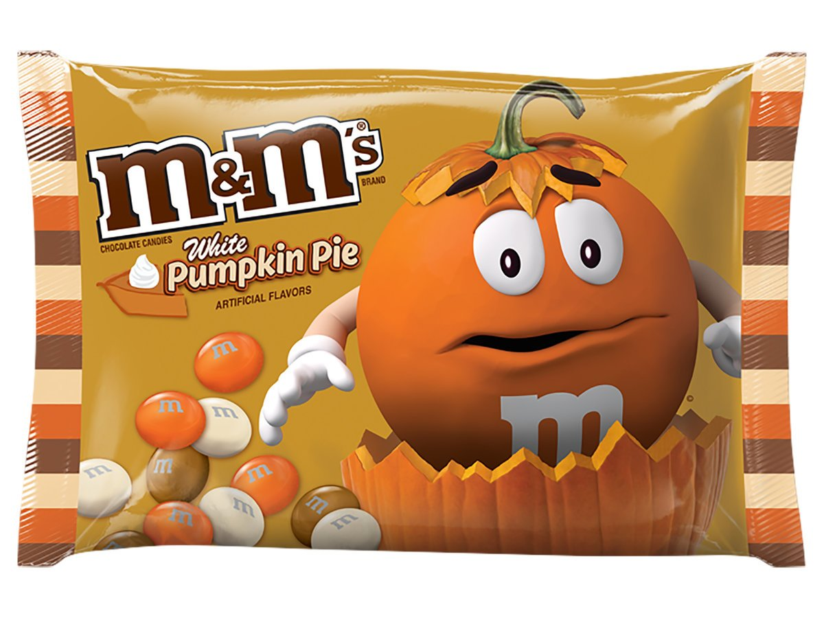 M&M's White Pumpkin Pie Chocolate Candy 8oz Bag
