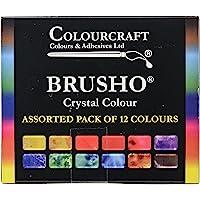 Brusho by Colourcraft Brusho Crystal Colour Set, BRU85000, Multicolor, 15 Grams