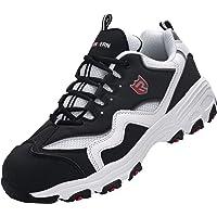 Zapatos de Seguridad Hombre Mujer,SRC Anti-Deslizante Punta de Acero Ultraligero Transpirables Zapatillas de Seguridad…