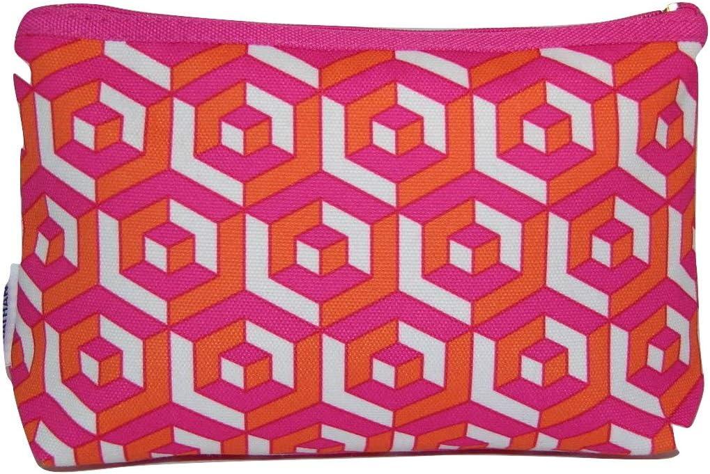 Clinique Jonathan Adler - Bolsa de maquillaje, color rosa, naranja y blanco: Amazon.es: Belleza