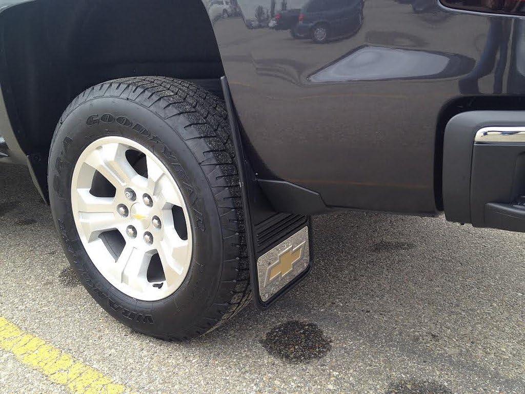 Gatorback Chevy Silverado Gold Bowtie Truck Mud Flaps Front or Rear Pair