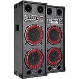 Skytec SPB-28-kit karaoké haut-parleurs Enceintes amplifiées actives Idéal pour le karaoké