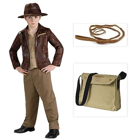 Rubie s Costume Company Indiana Jones Deluxe Indiana Niño Disfraz Incluido  el látigo y Satchel – Medium d5cf5e25a6e
