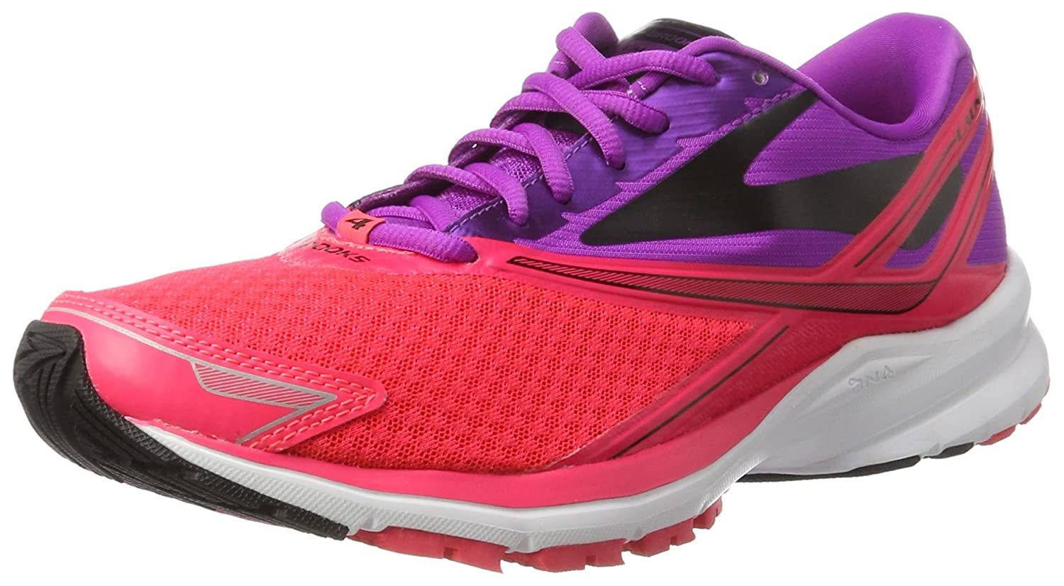 Brooks Womens Launch 4 B01GEZU6VC 7 B(M) US|Purple Cactus Flower/Diva Pink/Black
