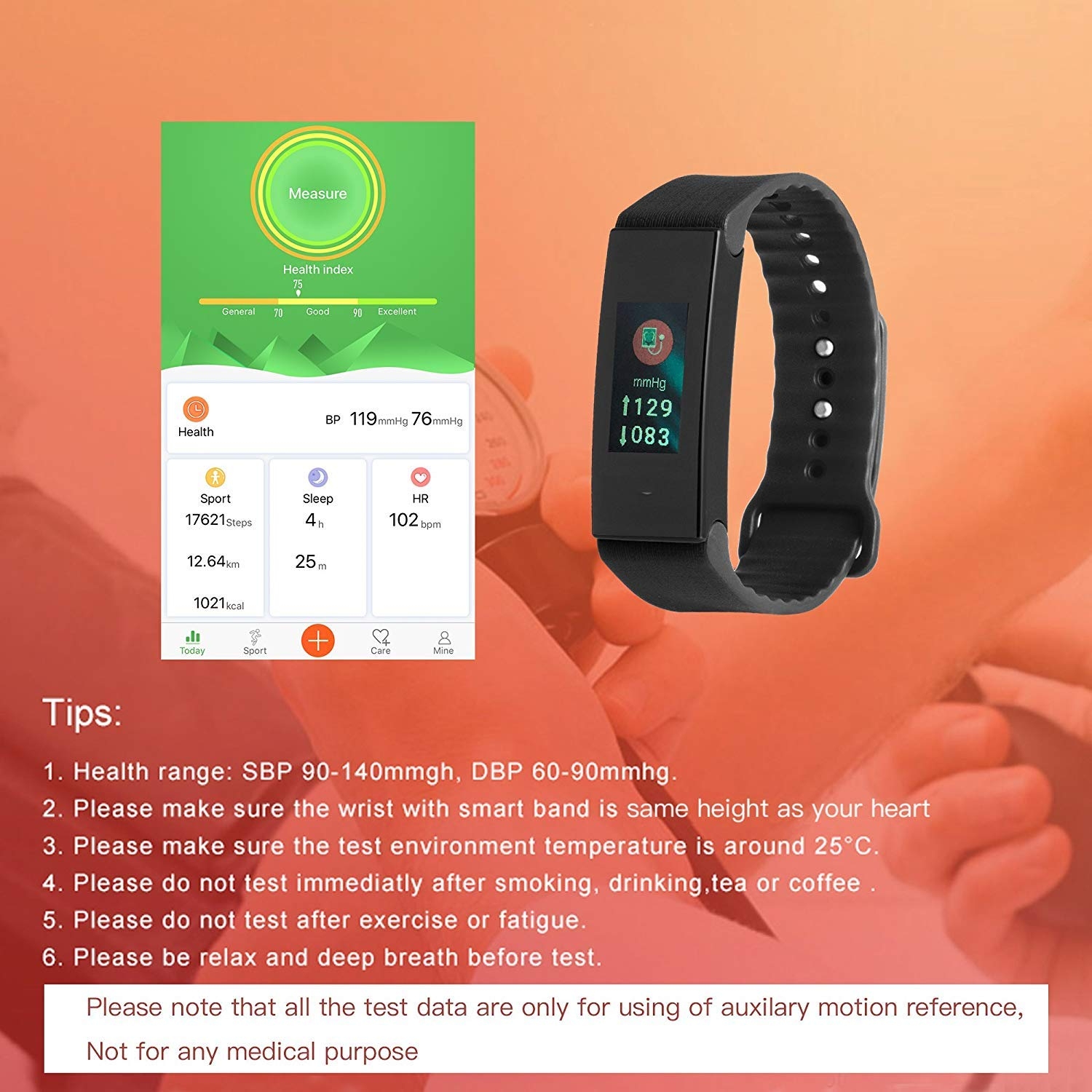 Cocofit Fitness Tracker with Heart Rate Monitor, Blood Pressure Monitor, Sleep Monitor, Waterproof Activity Tracker, Smart Band with Replacement Band, Step Counter, Calorie Counter for Kids Women Men