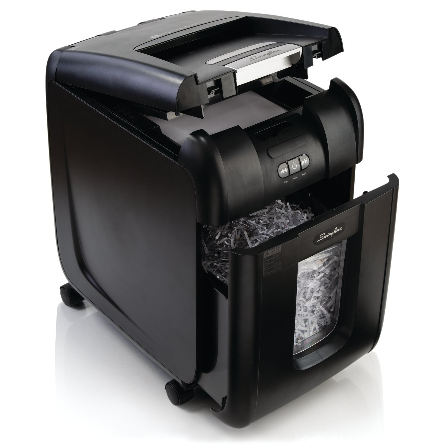 Swingline Paper Shredder, Auto Feed, 230 Sheet Capacity, Super Cross-Cut, 1-5 Users, Stack-and-Shred 230X (1757573)