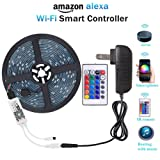 Amazon Price History for:WenTop Wifi Wireless Smart Phone Controlled Led Strip Light Kit with DC12V UL Listed Power Supply Waterproof SMD RGB 5050 16.4Ft(5M) 150leds Flexible Music Led Lights Work with Android, IOS and Alexa