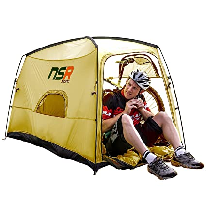 NSR Bicycle Camping Tent, Anti-Theft Design Secures and Stores Bike Inside  Tent [Road Cycle]
