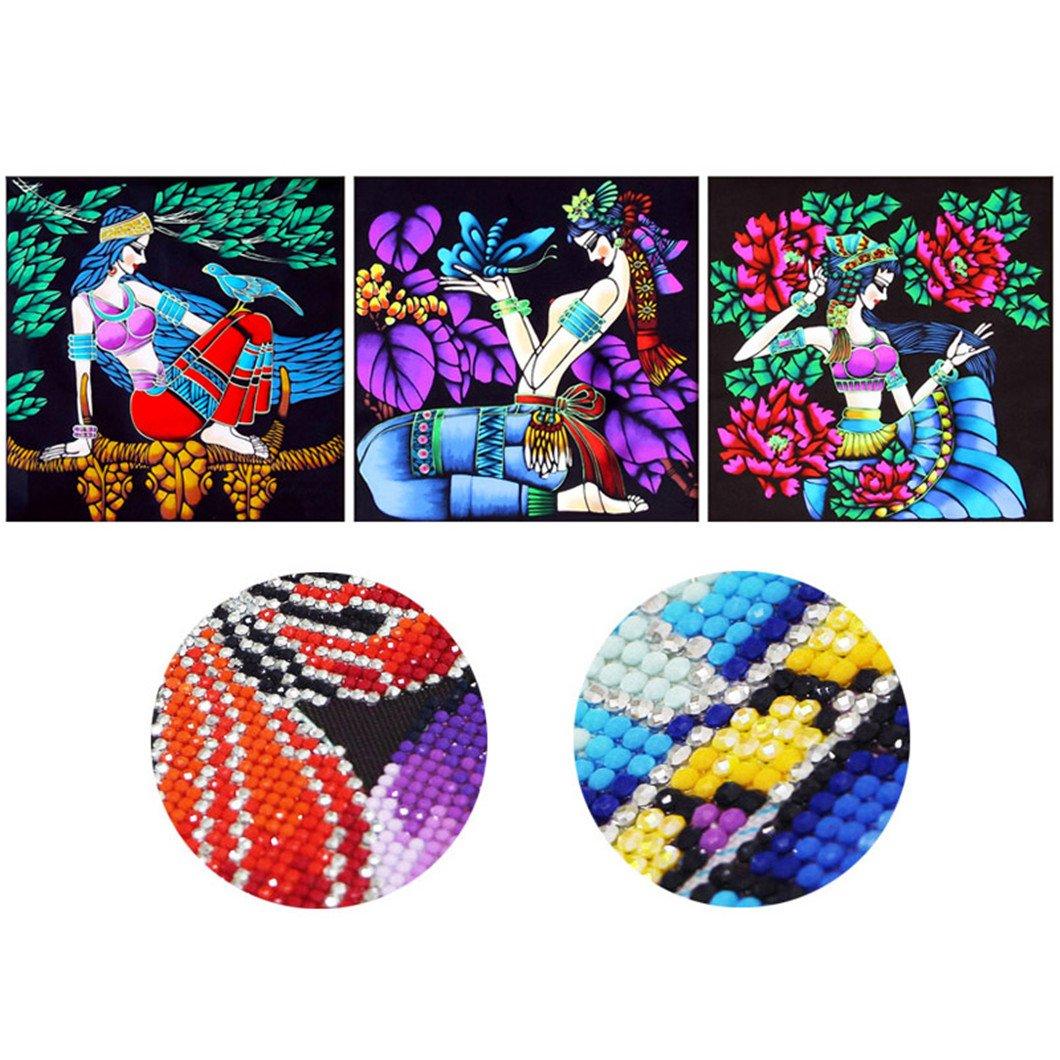 Mazixun 3D Special Shaped Diamond Embroidery Women 5D Diamond Painting Cross Stitch Girl Diamond Mosaic Decoration Christmas