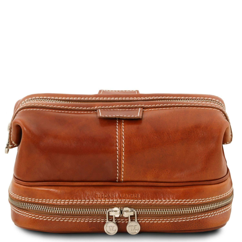 Tuscany Leather Patrick Leather toilet bag - TL141717 (Honey)