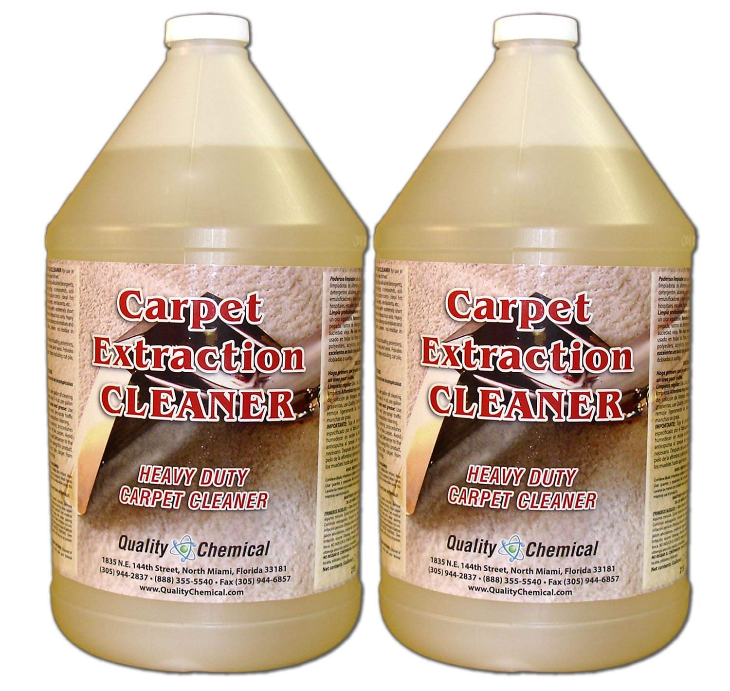 Commercial Carpet Extraction Cleaner and Shampoo. Heavy-duty carpet cleaner for use in all extraction type machines.-2 gallon case
