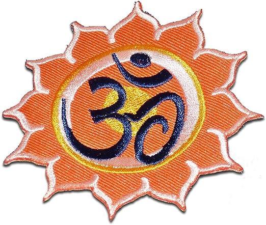 Parches - Om símbolo espiritual Hindu Meditation - naranja - Ø8 ...