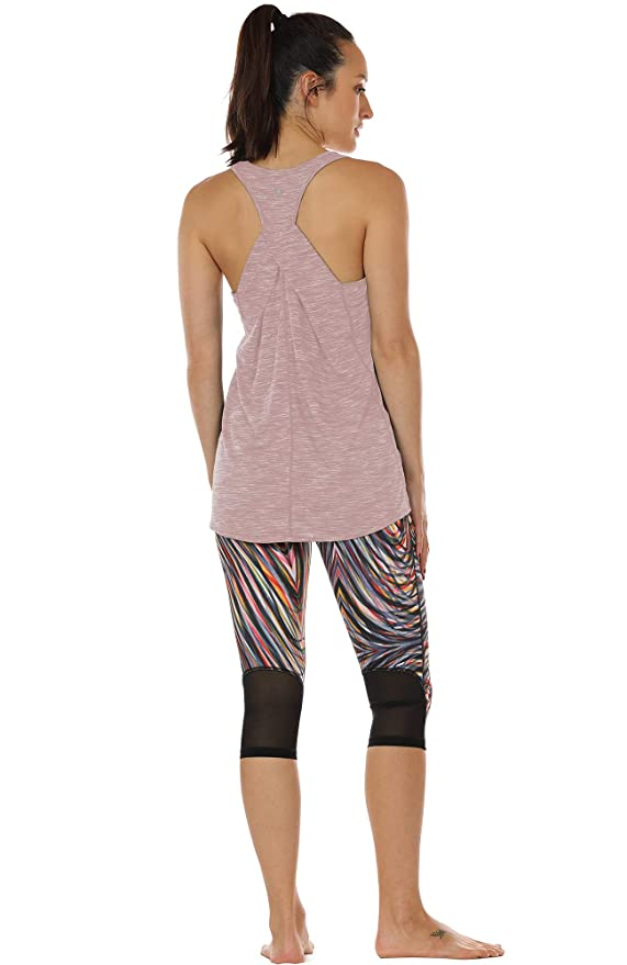af8928f880575c Amazon.com  icyzone Workout Tank Shirts Women - Athletic Exercise Yoga Gym  Tops