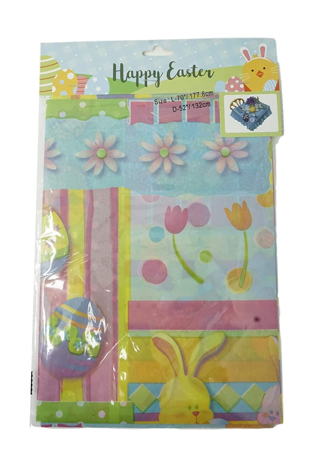 Green Sophia Essential Happy Easter Egg Hunt Plastic Table Cover Pack of 2