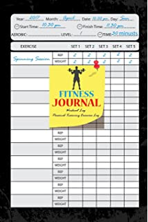 fitness journalworkout logpersonal training exercise logweight loss notebook 6x9