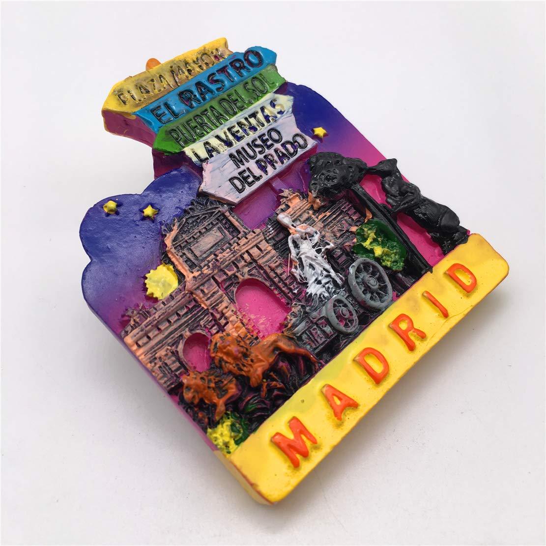 Weekinglo Souvenir Imán de Nevera Madrid España 3D Resina ...