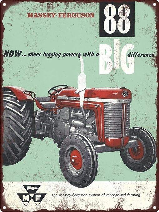 KODY HYDE Póster De Pared Metal - Massey Ferguson Tractor ...