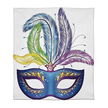 Amazon.com: C COABALLA Comfort Blanket,Mardi Gras,for Sofa ...