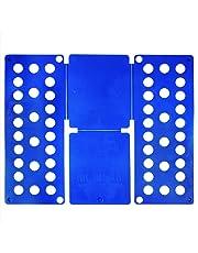 com-four® Falthilfe Faltbrett Hemdenfalter Wäschefalter blau - perfekte Hilfe für Hausfrauen und natürlich Hausmänner! (1 Stück)