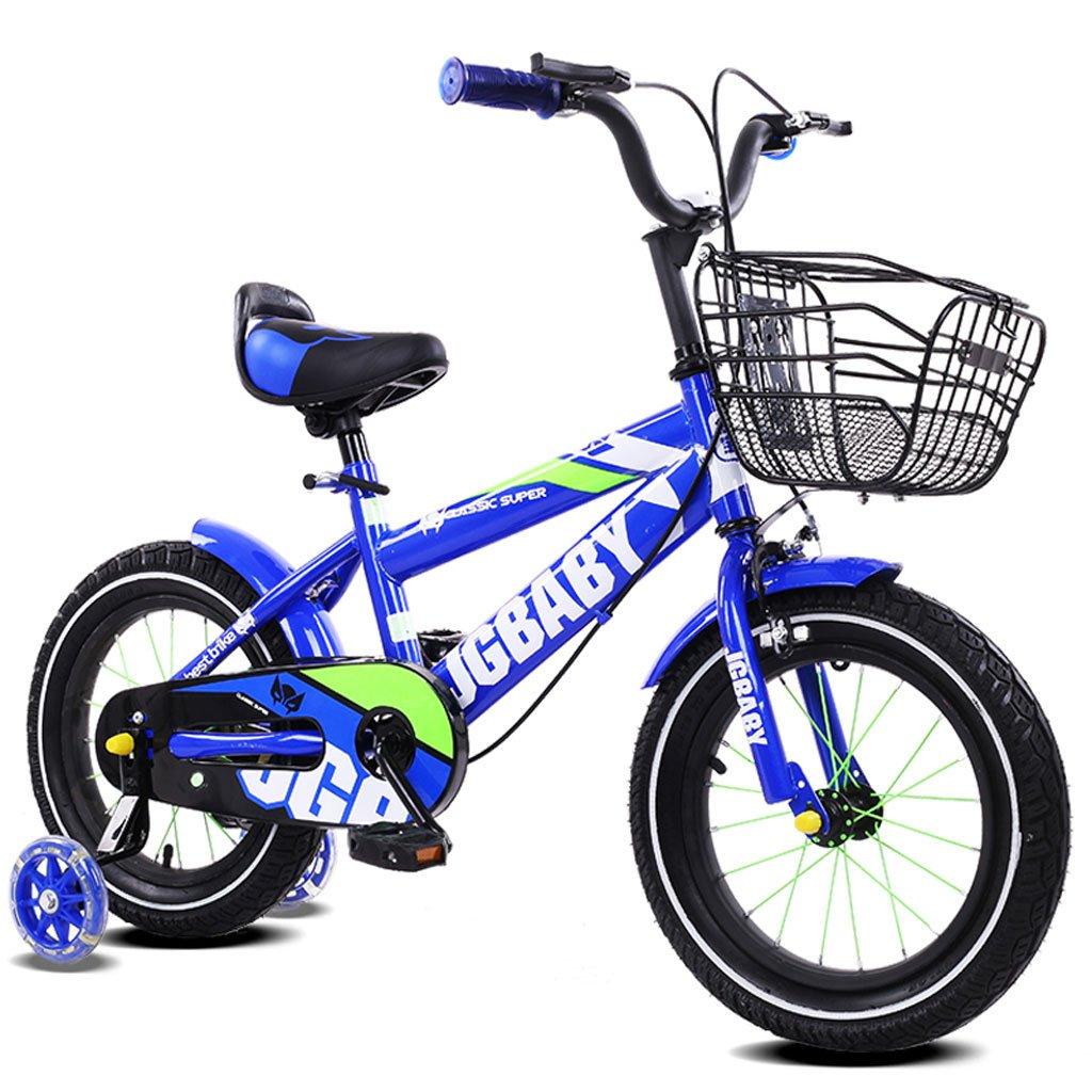 Fenfen Bicicleta para niños 2-4/3-5/4-7 Baby Baby Carrier 12/14/16 pulgadas Bicicleta para niños Marco de pintura de aleación, Royal Blue/Purple/Rose Red/Sky Blue (Color : 12