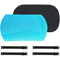 Back Support Cushion - Gel Lumbar Support Back Cushion with 3D Mesh Non-Slip Cover and Two Adjustable Straps,Designed…