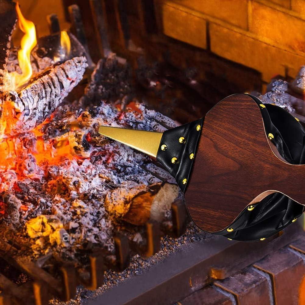 UPKOCH Soufflet en Bois Chemin/ée en Bois Soufflet Souffleur Dair Manuel pour Camping en Plein Air Barbecue Grill Chemin/ée