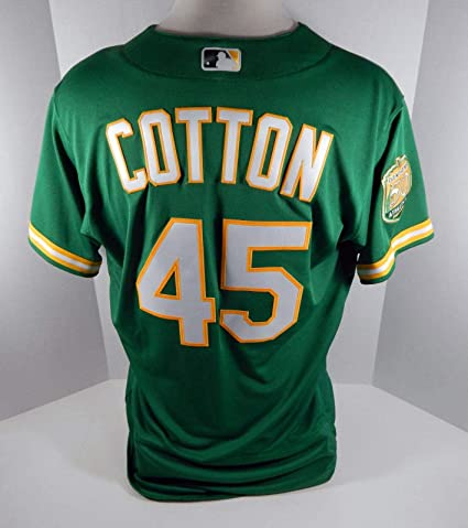 new concept f22a8 7fe99 2018 Oakland Athletics A's Jharrell Cotton #45 Game Issued ...