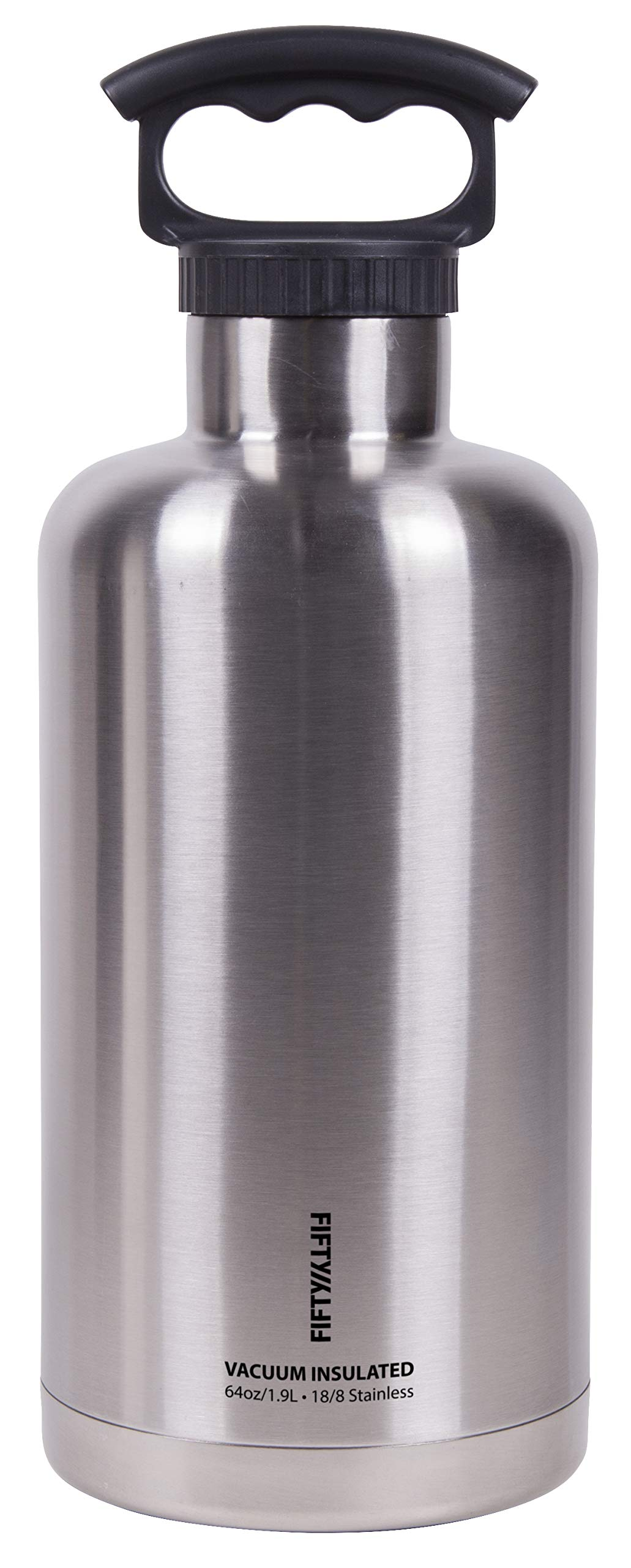 Fifty/Fifty Vacuum-Insulated Stainless Steel Bottle with Small Mouth - 64 oz. Capacity by FIFTY/FIFTY